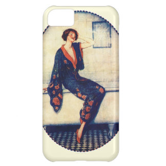 Vintage lady in the bathroom iPhone 5C cases