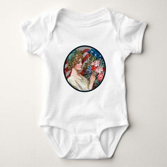 Vintage Lady Liberty Baby Bodysuit