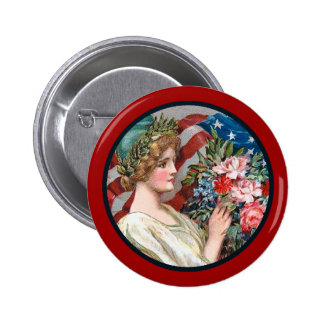 Vintage Lady Liberty_Button Buttons