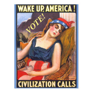 Vintage Lady Liberty Image on Political Postcards