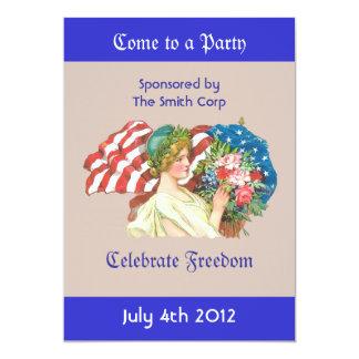 vintage lady liberty invitation