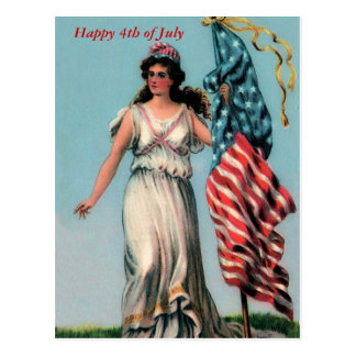 Vintage Lady Liberty Postcard