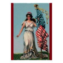 Vintage Lady Liberty Poster
