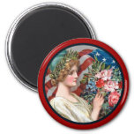 Vintage Lady Liberty_Round Magnet