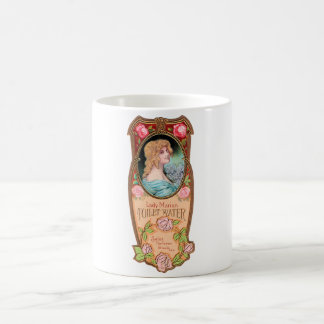 Vintage Lady Marian Toilet Water Label Coffee Mug