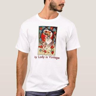 Vintage Lady My Valentine Men's Light T-Shirt