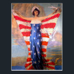 "Vintage Lady of Liberty Patriotic American Flag Postcard<br><div class=""desc"">Vintage Lady of Liberty Patriotic American Flag</div>"