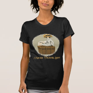 Vintage Lady on Travel Trunk T-Shirt