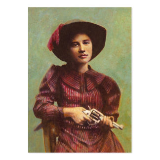 Vintage Lady Outlaw ACEO Buusiness Card Large Business Cards (Pack Of 100)
