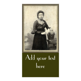 Vintage Lady Personalized Photo Card