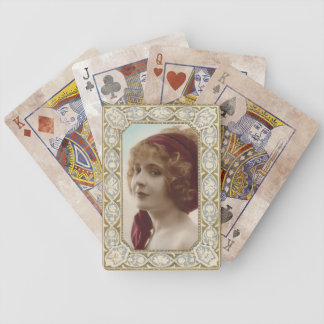 Vintage Lady Playing Cards