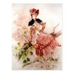 Vintage Lady Portrait Postcard