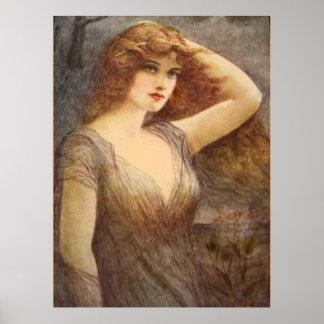 Vintage Lady Poster