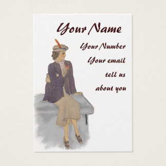 Vintage Lady profile card
