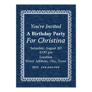 Vintage Lady Scotty Terrier Dog Ocean Birthday Invitations