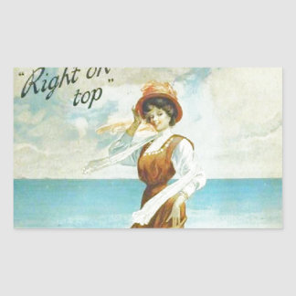 Vintage lady, The master Polish advert Rectangular Sticker