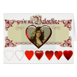 Vintage Lady Valentine Greeting Card