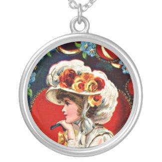 Vintage Lady Valentine Necklace necklace