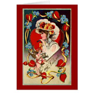 Vintage Lady Valentine's Card