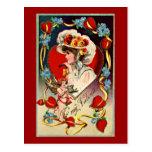 Vintage Lady Valentine's Postcard