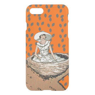 Vintage Lady White Dress Hat Sitting in Bird Nest iPhone 7 Case