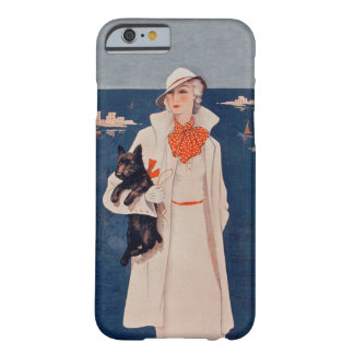 Vintage Lady White Suit Scotty Terrier Dog Ocean Barely There iPhone 6 Case