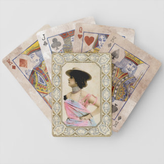 Vintage Lady with Attitude Playing Cards