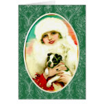 Vintage Lady with Boston Terrier Cards