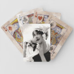 Vintage Lady with Flower Playing Cards Bicycle Playing Cards