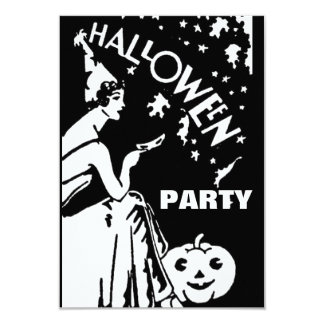 Vintage lady with mask Halloween Card