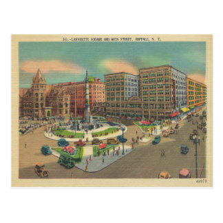 Vintage Lafayette Square Buffalo, New York Postcard