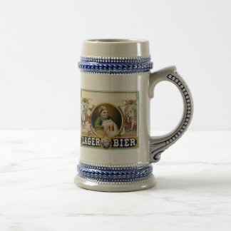 Vintage Lager Beer Advertisement Beer Stein
