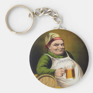 Vintage Lager Beer Advertisement Keychain