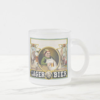 Vintage Lager Beer Advertisement 10 Oz Frosted Glass Coffee Mug