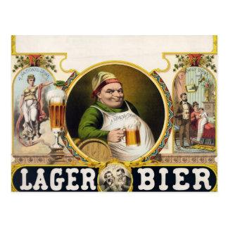 Vintage Lager Beer Advertisement Postcard