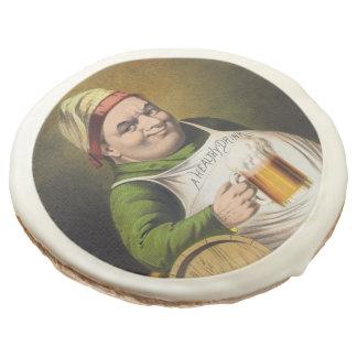 Vintage Lager Beer Advertisement Sugar Cookie