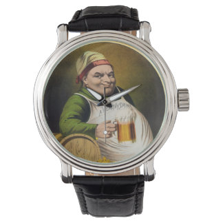 Vintage Lager Beer Advertisement Wristwatches