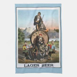 Vintage Lager Beer Bar Towel