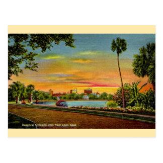 Vintage Lake Eola Orlando Florida Postcard