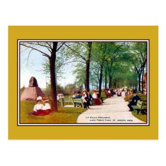Vintage Lake Front Park St. Joseph MI Postcard