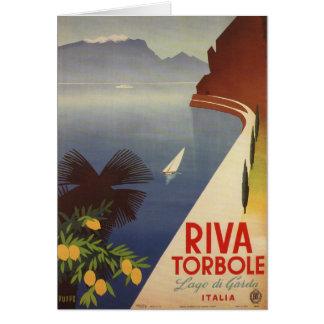 Vintage Lake Garda Riva Torbole Italy Tourism Card