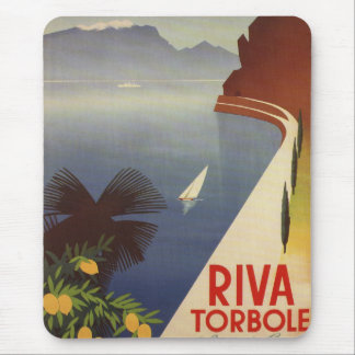 Vintage Lake Garda Riva Torbole Italy Tourism Mouse Pad
