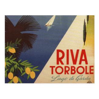 Vintage Lake Garda Riva Torbole Italy Tourism Postcard