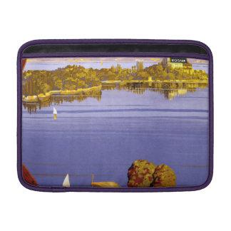 Vintage Lake Garda Travel Poster Sleeve For MacBook Air