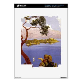Vintage Lake Garda Travel Poster iPad 3 Decal