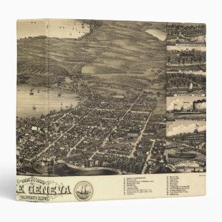Vintage Lake Geneva Map 3 Ring Binder