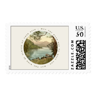 Vintage Lake in Kerry Ireland with Irish Blessing Postage