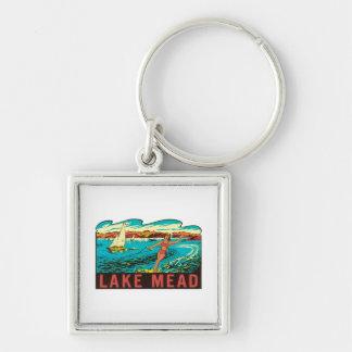 Vintage Lake Mead  Nevada NV State Label Keychain