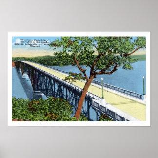 Vintage Lake of the Ozarks, Hurricane Deck Bridge Poster