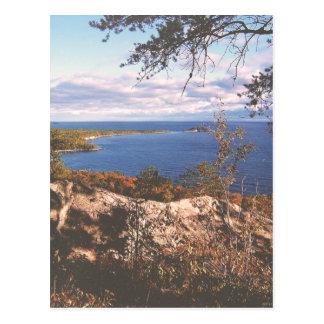 Vintage Lake Superior Shores Postcard
